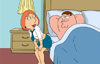 Family Guy - vídeo - sexo gostoso entre o Peter e a Lois