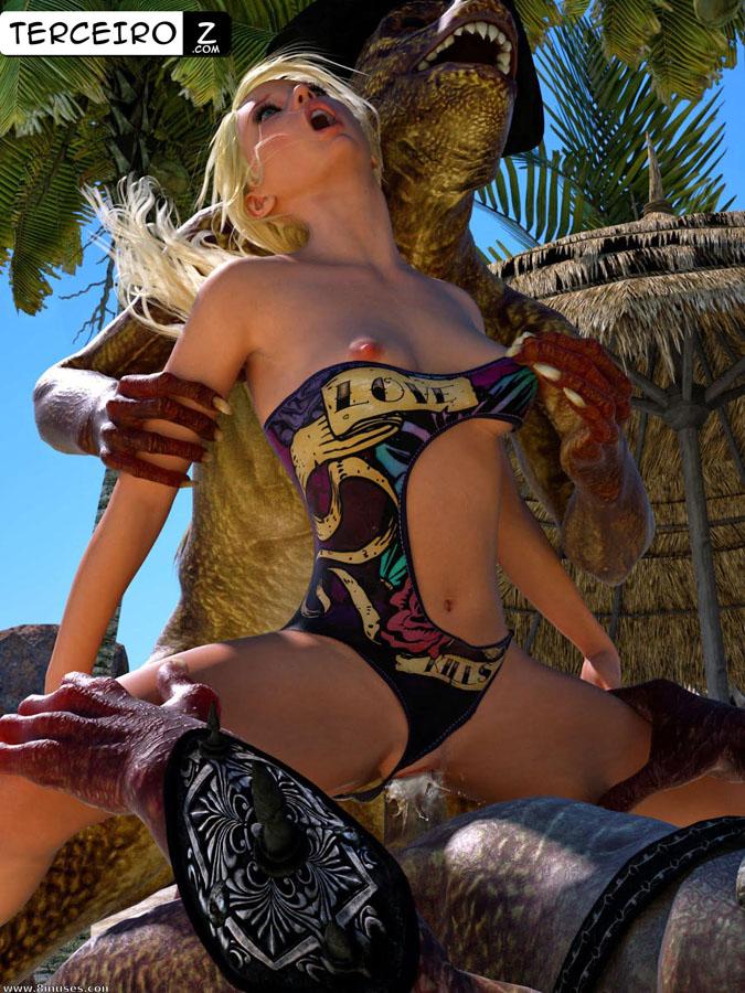 Violadas na Praia - Duas gostosas sendo enrabadas por criaturas
