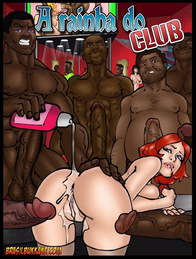 A Rainha do Club - Esposa se vinga do marido trepando com 15 negros