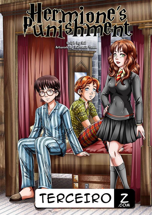 O Castigo de Hermione - Harry Potter e Ron comem essa novinha